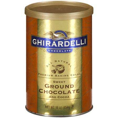 """Here's a great brownie recipe from Ghirardelli. The recipe for """"Award Winning Brownies"""" is on the back of their Sweet Ground Chocolate and Cocoa Powder can. Use it for brownies, or use it for hot cocoa. It has a nice and kind of delicate chocolate flavor. I took these brownies to a party and everyone...Read More »"""