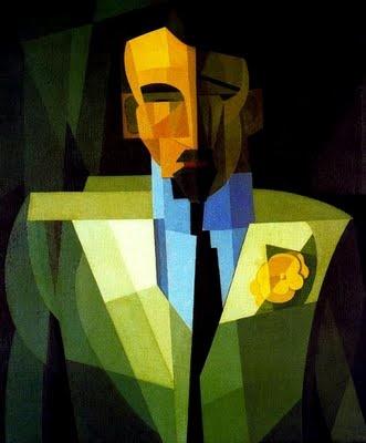 """""""El hombre de la flor amarilla""""-Emilio Pettoruti (1892-1971)"""