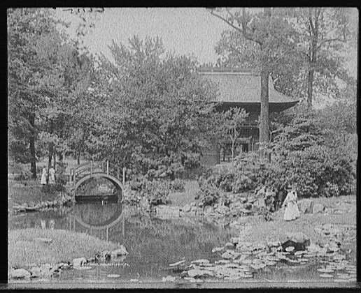 1910 Displaying Japanese Garden, Fairmount Park, Philadelphia,