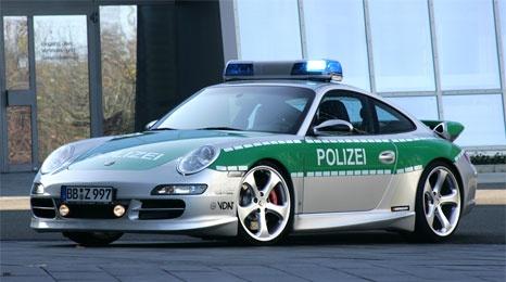 German Porsche 911 Carrera S Polizei Car