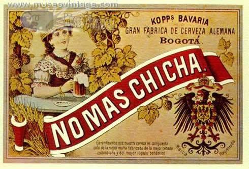 ¡No más chicha! Era la publicidad que usaba @BAVARIA_SA para promover el consumo de cerveza. pic.twitter.com/XSeqgVdKze @bogotaantigua