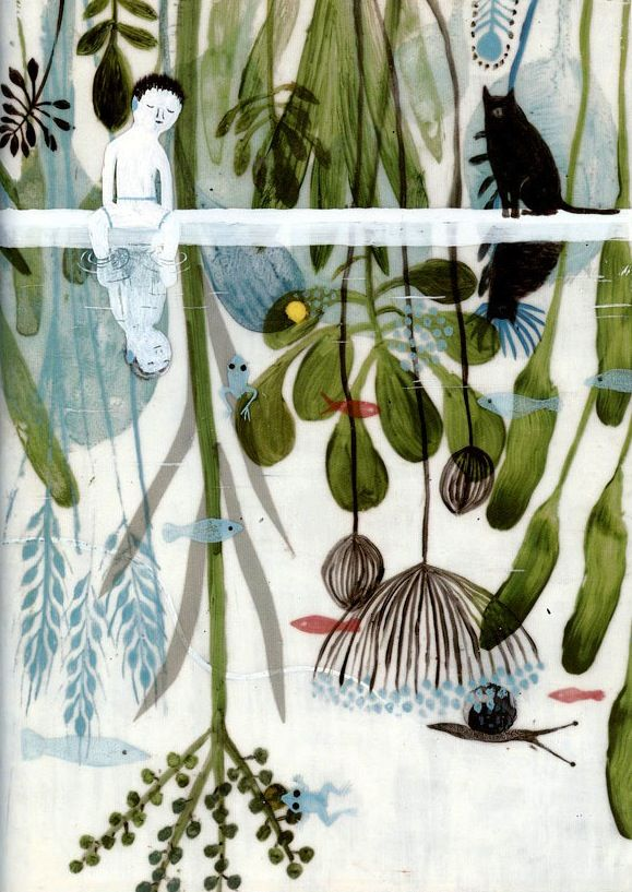 An illustration by Violeta Lopiz for the book Les Poings sur les Îles