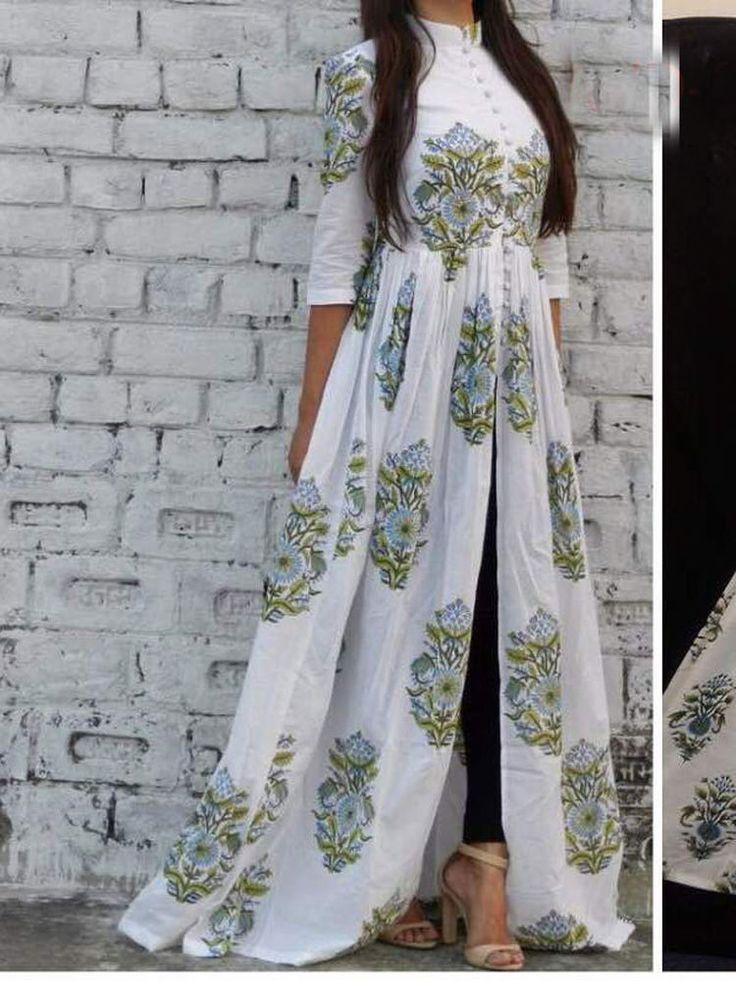 New summer special kurti collection white diamond fancy designer look | eBay