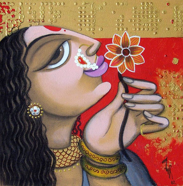 Varsha Kharatmal Indian Art Guru :: Face 18