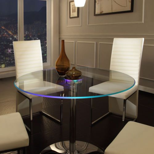 Great Glass Dining Table With LED Lights
