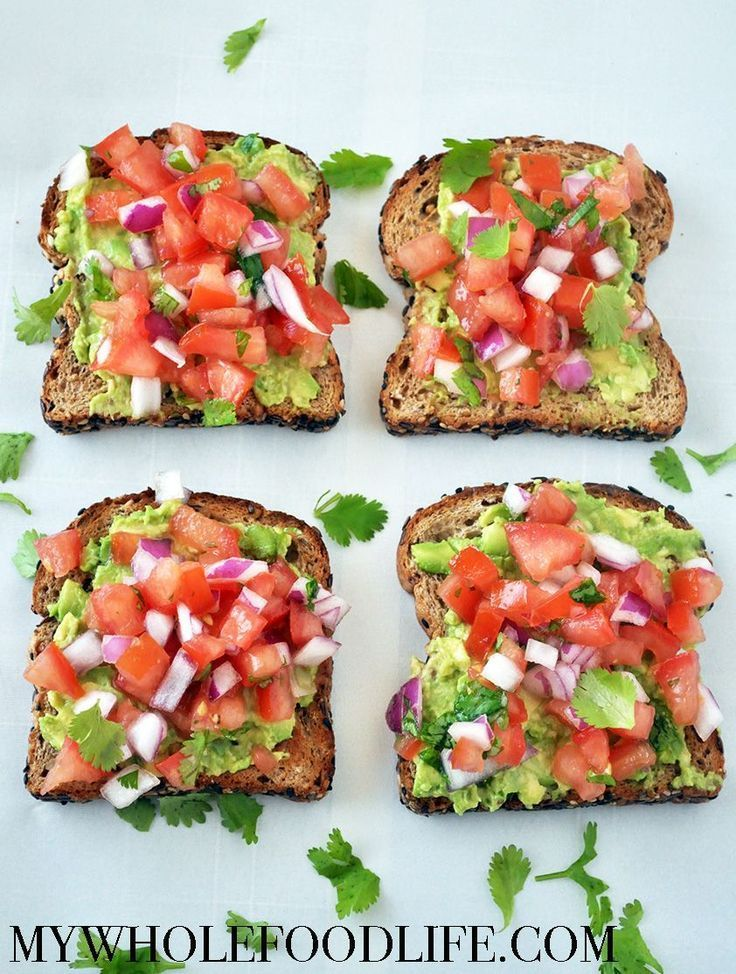 Healthy breakfast idea. This avocado toast in the southwest is a great way to start …