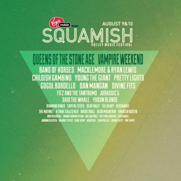 The Squamish Festival line-up has been revealed and pre-sale festival tickets are now up for grabs.