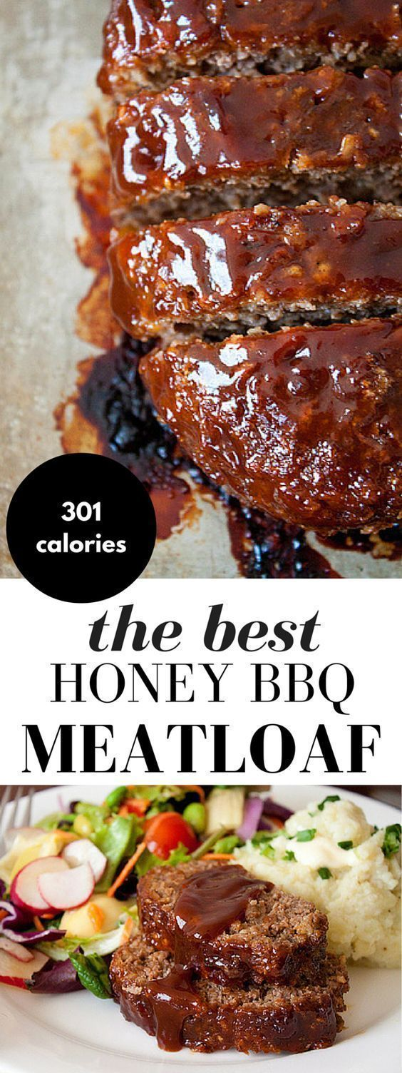 Honey Barbecue Meatloaf Recipe! This meatloaf recipe is made with bbq sauce and honey for added smokiness, a little sweetness, and moisture. It's everyone's favorite comfort food!