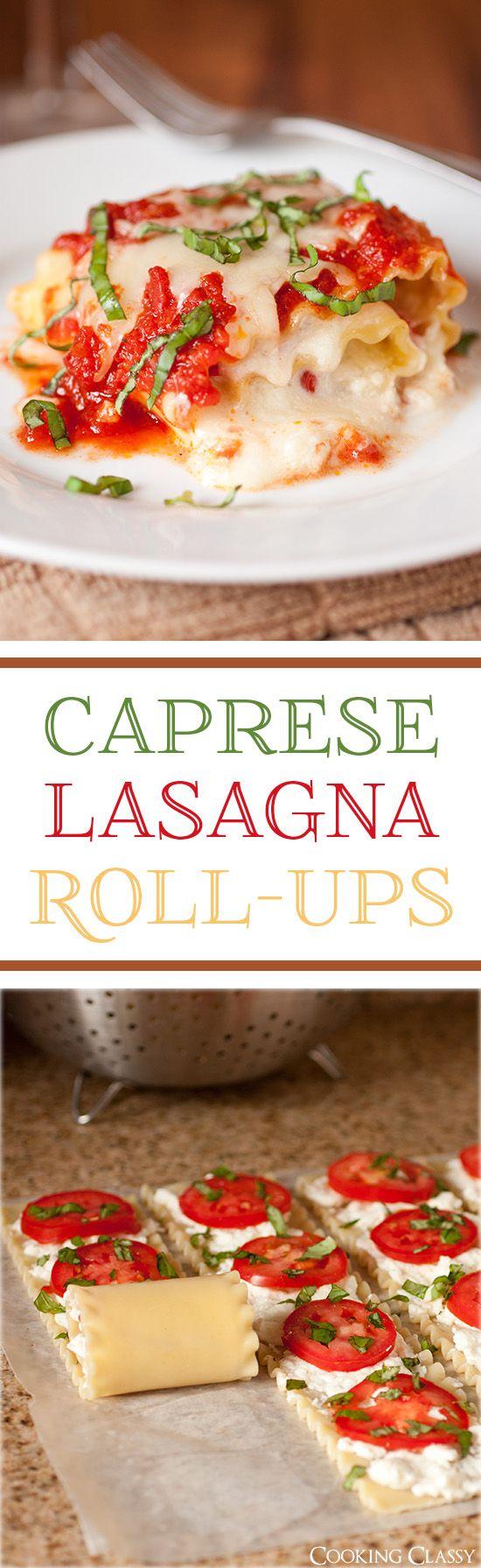 Caprese Lasagna Roll-Ups