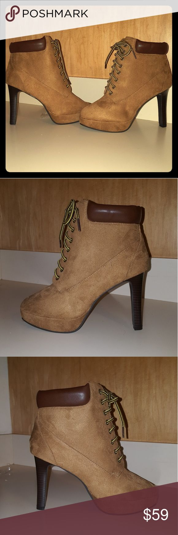 """""""Timberland"""" Style Heels Brand New/Never Worn In Original Box  Women's """"Timberland"""" Style Heels  Brand: Boston Design Studio Size: 6 Boston Design Studio Shoes Heeled Boots"""