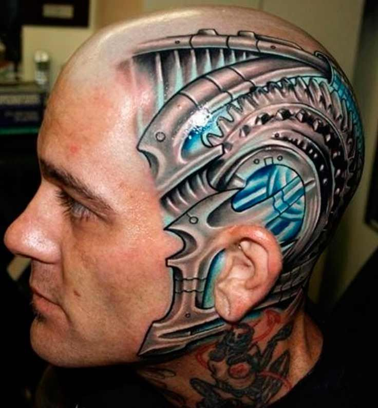 Tattoo Designs That Will Make You Want To Put Them All: An Attractive Biomechanical Tattoo With Extreme 3D Effect