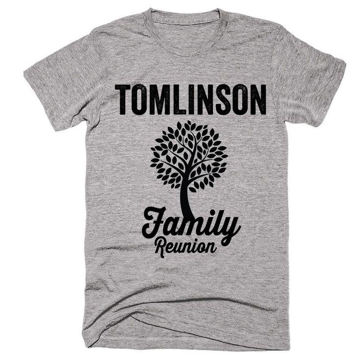 TOMLINSON Family Name Reunion Gathering Surname T-Shirt