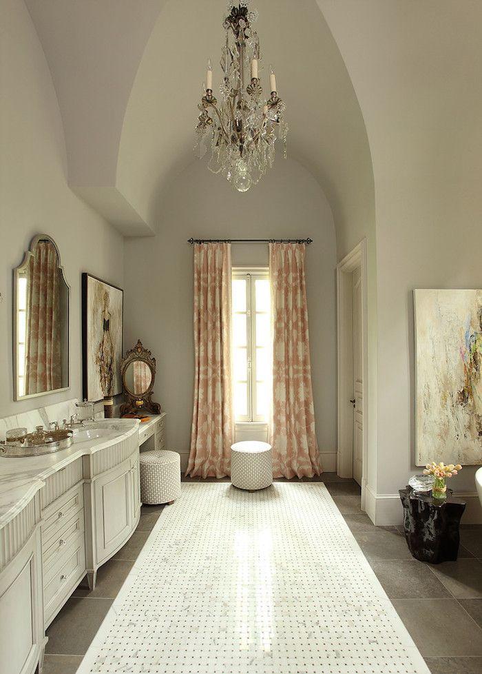 high ceiling bathroom | karpaty cabinets