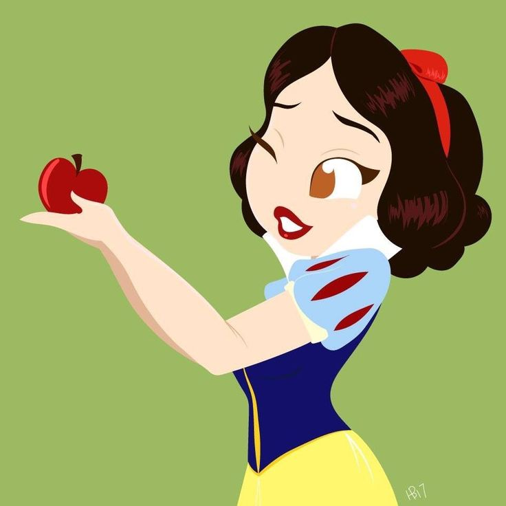 Snow White by Hollie Ballard, Snow White holding apple