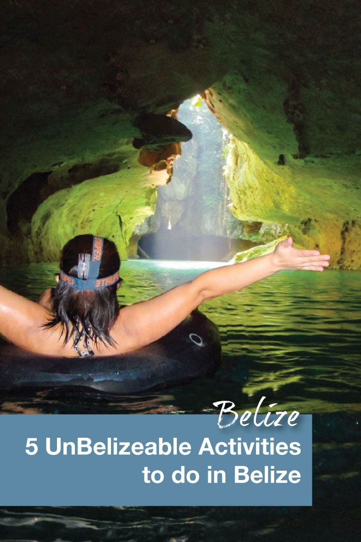 Cave tubing is one of our must do activities in Belize. It is a relaxing way to explore Belize's extensive cave system.