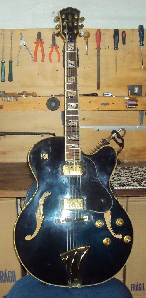Guitarra Washburn semi acústica - Troca dos trastes e parte elétrica! Oficina das Guitarras Mozart!