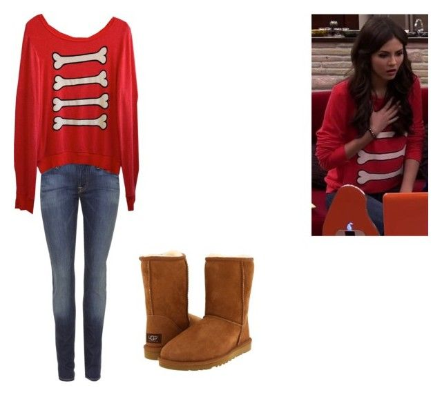 """Tori Vega- Nickelodeon's Victorious- The Slap Fight"" by brainyxbat ❤ liked on Polyvore featuring UGG Australia, 7 For All Mankind, Wildfox, women's clothing, women, female, woman, misses and juniors"