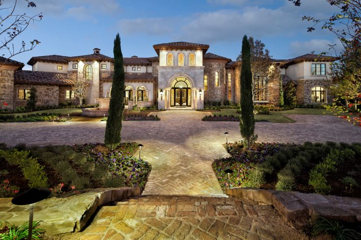 100 best mediterranean tuscan homes exterior edition for Spanish style homes for sale in dallas tx