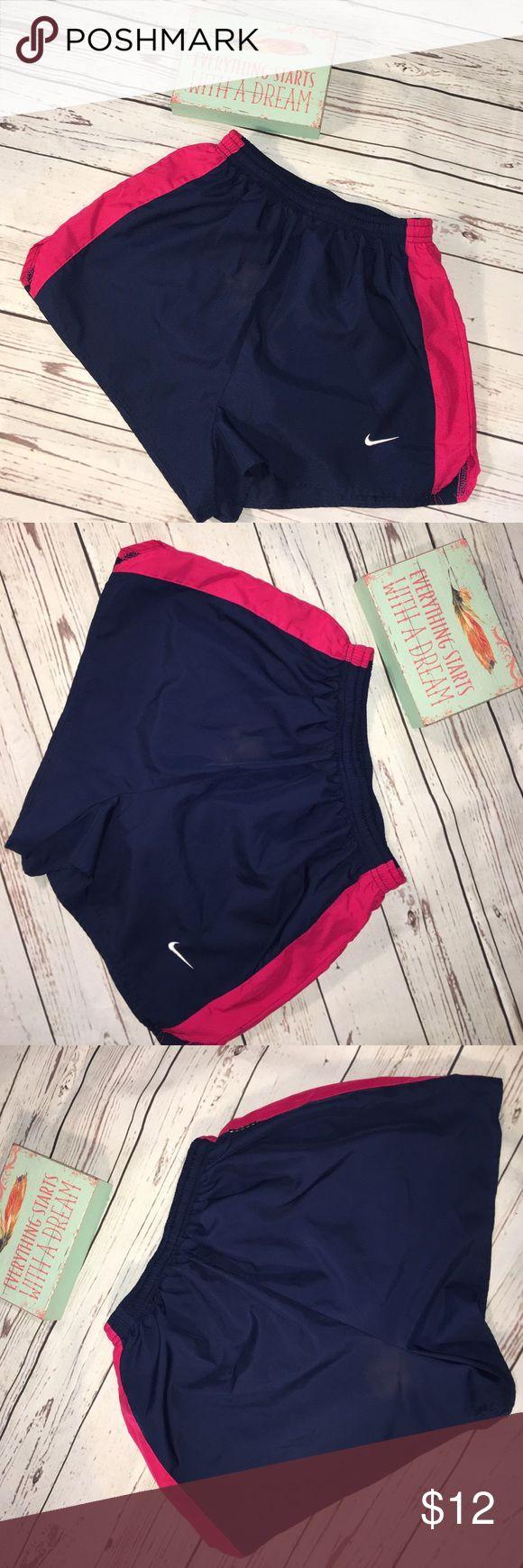 Nike running shorts medium 8/10 blue pink Ladies preowned Nike running shorts sz medium 8/10 Nike Shorts