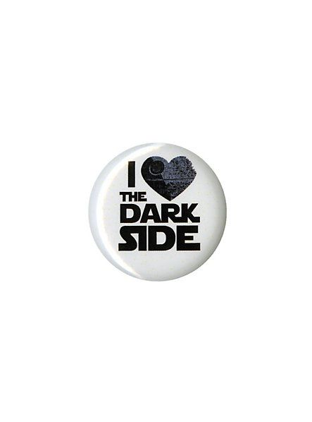 Star Wars I (Heart) The Dark Side Pin   Hot Topic