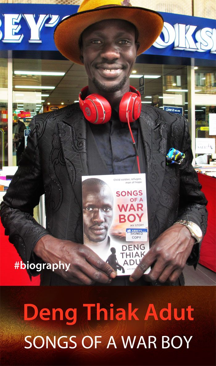 Deng Thiak Adut has come a long way since his days as a boy soldier in Sudan. He's rockin' it at Abbey's. #Sudan #refugees #refugeeswelcome #war #africa #abbeysbookshop #131york #sydney #australia