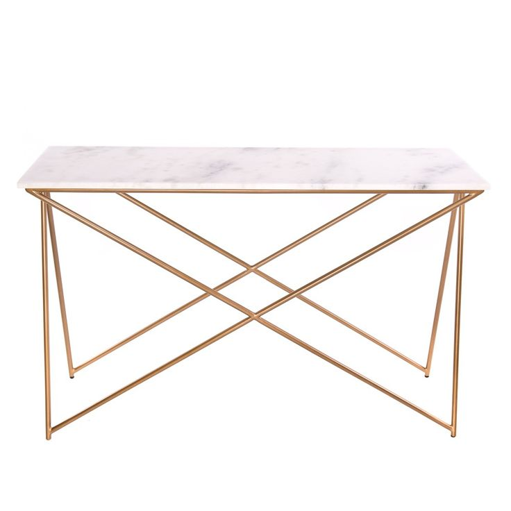 Awesome Stellar White Marble Console Table
