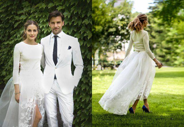 Оливија Палермо се венча во комплет од Каролина Херера