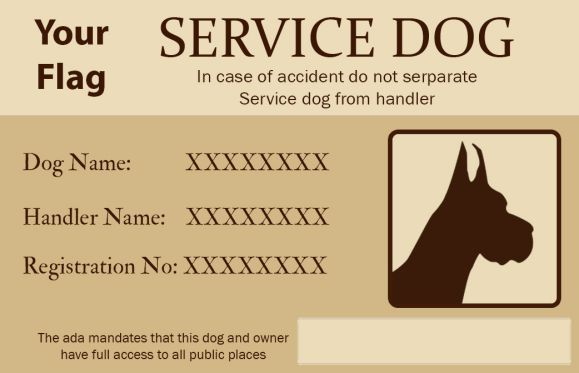 Services Dog Id Card Service Dogs Dog Flag Dogs
