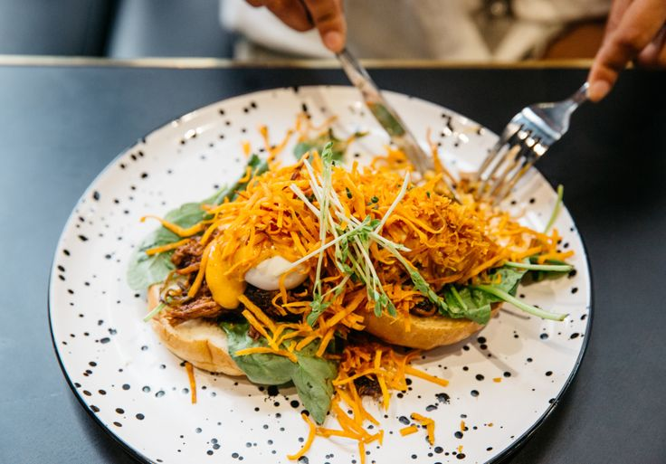 An industrial-looking local with Thai-inspired brunch.