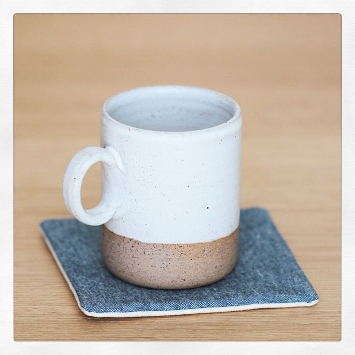 These coasters will fit any home decor ! Timeless, minimalist, sustainable 100% #organiccotton (chambray & twill) http://cozymemories.squarespace.com/shop/coasters-simplicity