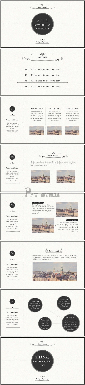 【【免费】素白古典欧式风格多用模板PPT模板】-PPTSTORE
