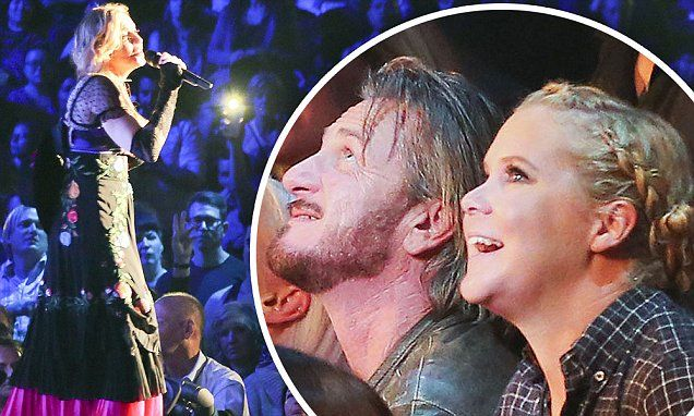 Madonna does shots with Amy Schumer as ex Sean Penn stands by