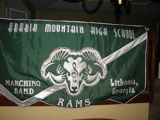 Designed High School marching band banner using Cricut and Sure cuts a lot.