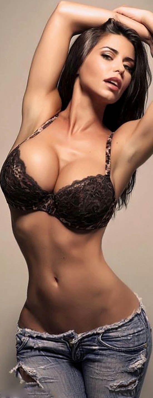 Nude women fit brunette