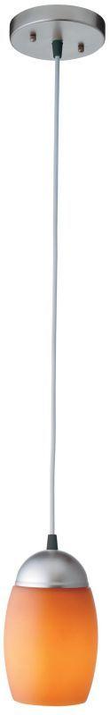 Lithonia Lighting 11994 Energy Star Single Light Down Light Pendant Brushed Nickel / Amber Indoor Lighting Pendants