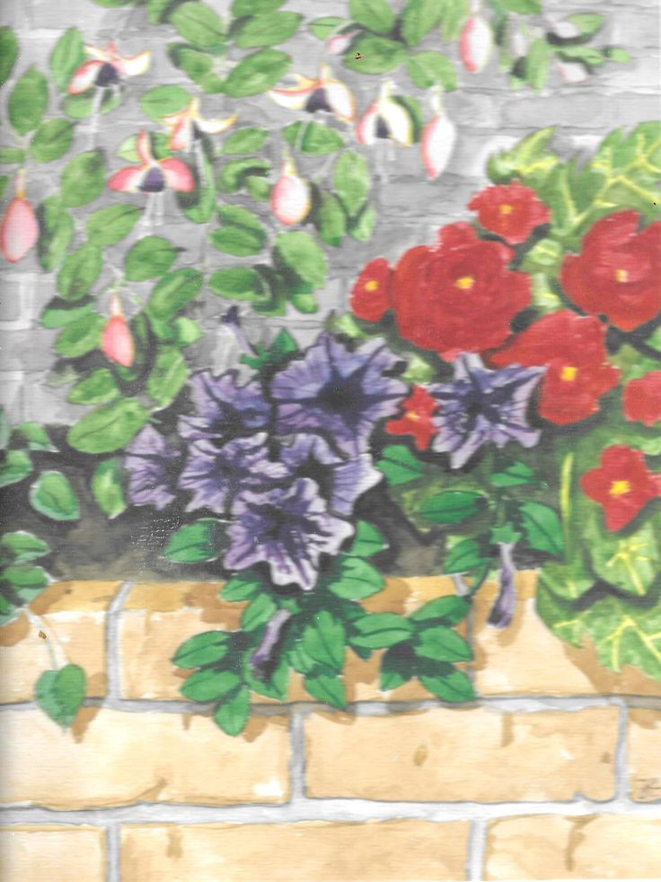 In de tuin van mijn vader / in my father's garden (aquarel/water colour)