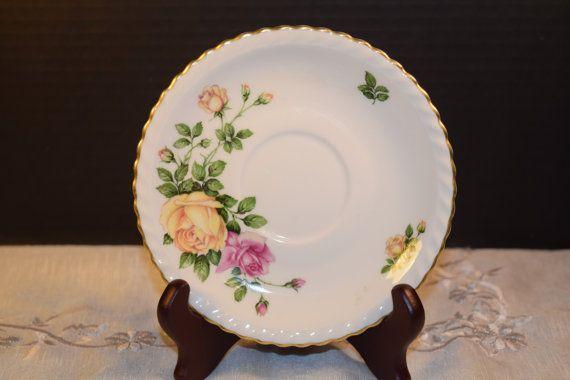 Franconia Krauheim Rose Garden Saucer by ShellysSelectSalvage