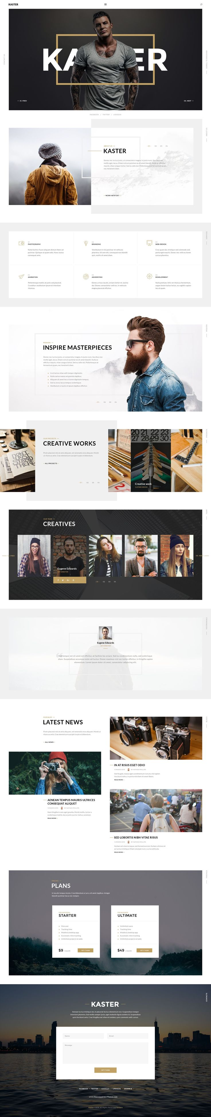 Kaster is a multipages PSD template for creative agency, design studio…