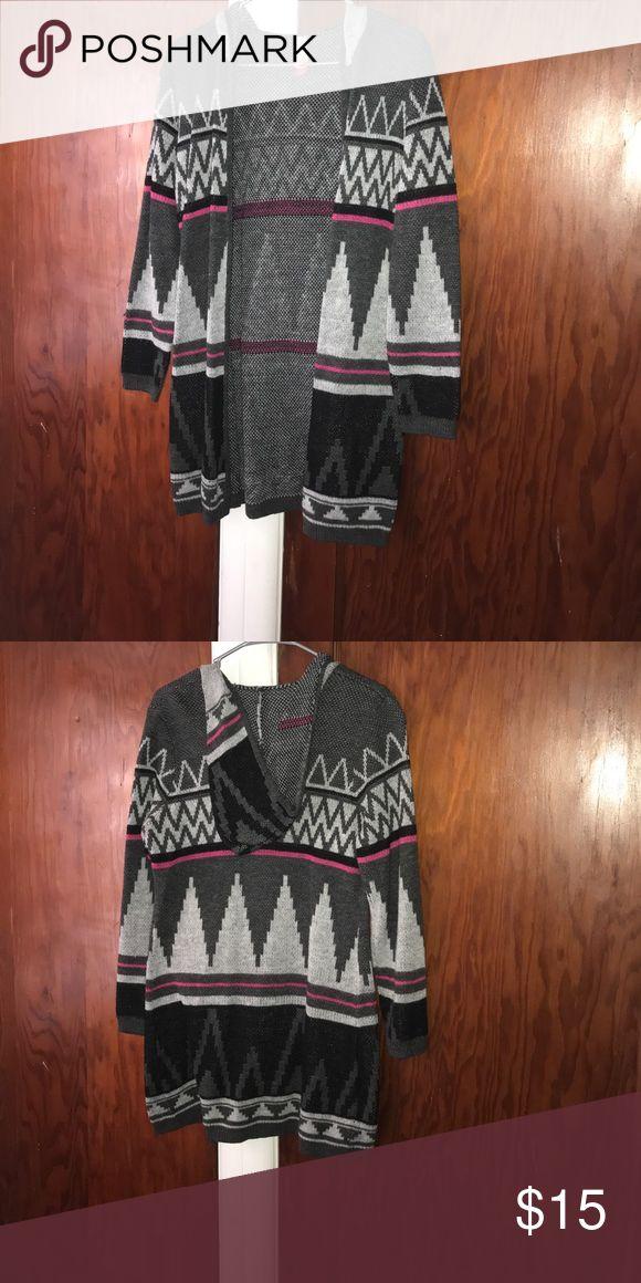 Aztec print cardigan Like new No Boundaries Sweaters Cardigans