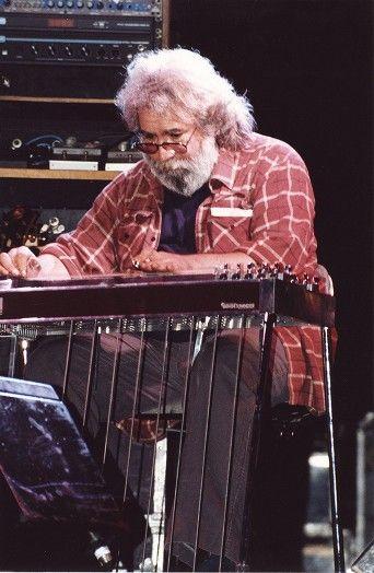 Jerry Garcia on pedal steel guitar