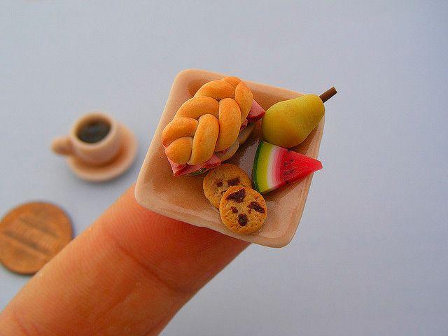wow again again again: Miniatures Food, Food Sculpture, Incredible Miniatures, Minis Food, Art, Tiny Food, Shay Aaron, Miniature Food, Design Blog