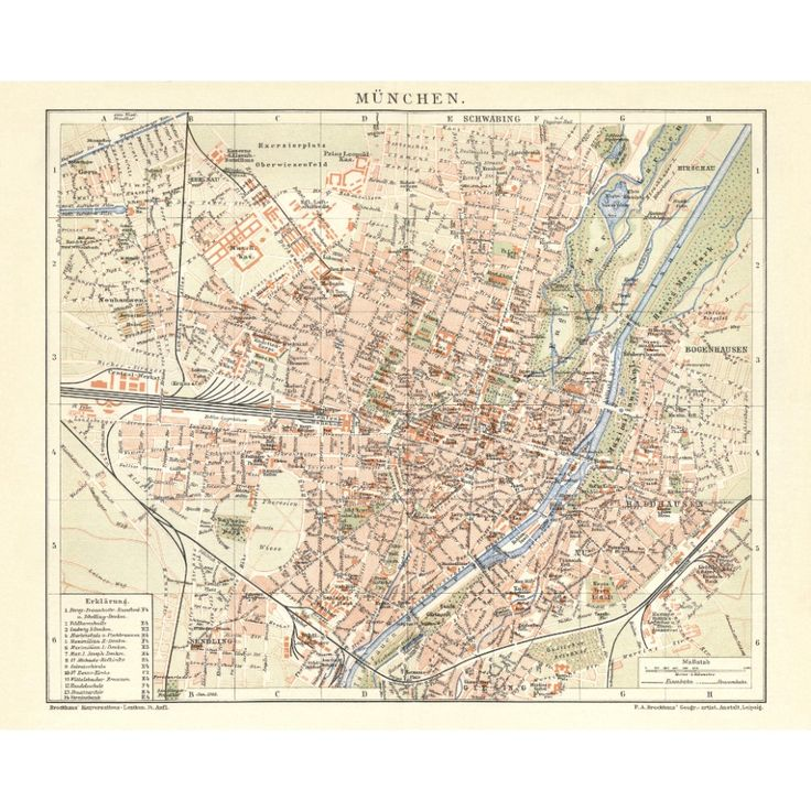 München Alte Wandkarte für Home decor. Old map of Munich for wall art. Handmade paper print from 19,99€. Framed and unframed. Shipment worldwide. Antique map dinning room. #munich, #muenchen, #münchen #map, #antique #vintage #old #historical #reproduction #poster #plakat #gerahmte #karte #framed #handmadepaper #maps,  #mapdecor, #traveldecor #walldecor, #mapgifts