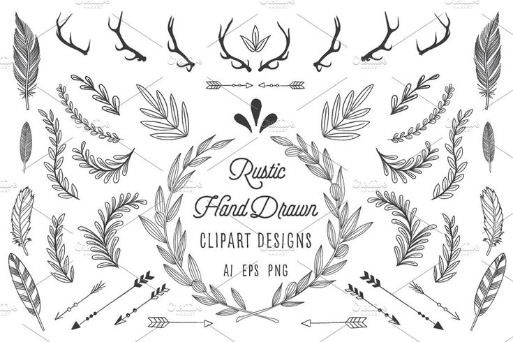 Rustic Wreath Feather Arrow Set How To Draw Hands Rustic Wreath Free Graphics