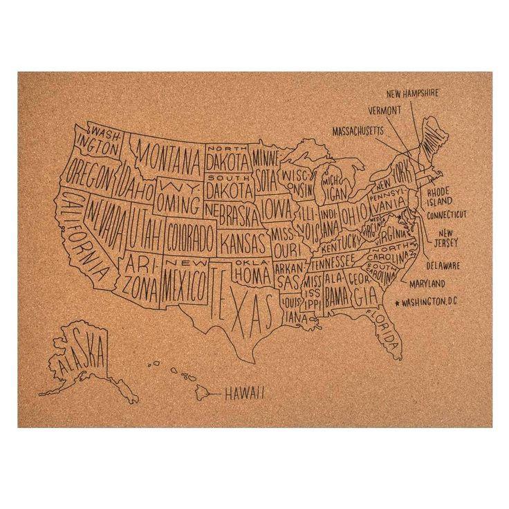 Easy,Tiger US Map Cork Board | Domino