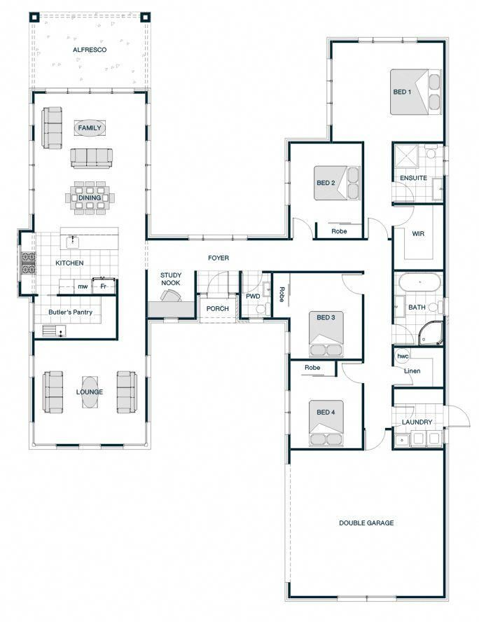 I Am A Bit Of A Sucker For Any H Shaped Floor Plans Which Have Wings I D Love A Home Where The Living Home Design Floor Plans Floor Plan Design House
