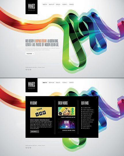 20 best Colorful Website Designs images on Pinterest Website - timeline website template