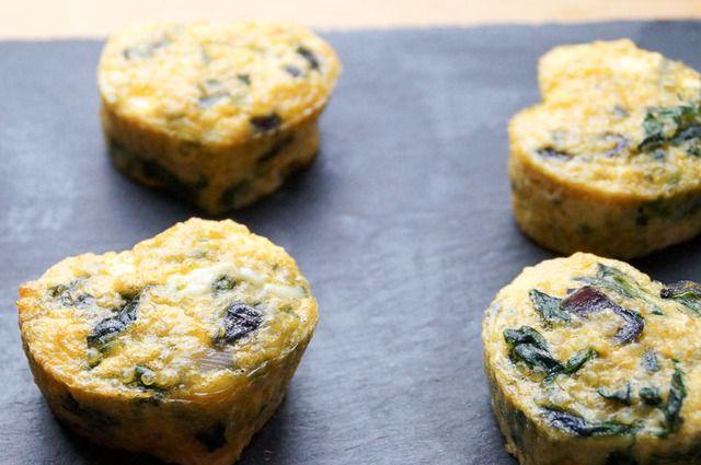 Recept: Ei Muffins met Spinazie en Hüttenkäse -  Recept uit myTaste.nl