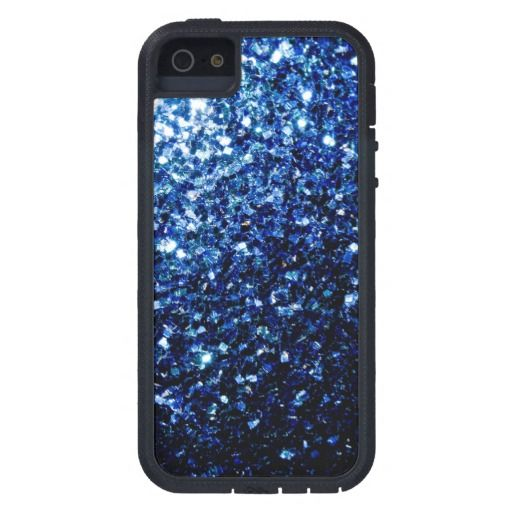 Sold 6th time! Thank you! Beautiful Blue glitter sparkles #iPhone5 Cover by #PLdesign #BlueSparkles #SparklesGift #SparklesiPhone #SparklesCase
