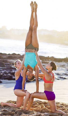 Thanks Athleta for the awesome pose idea. Maybe this will get me to hand stand... Partner yoga anyone?