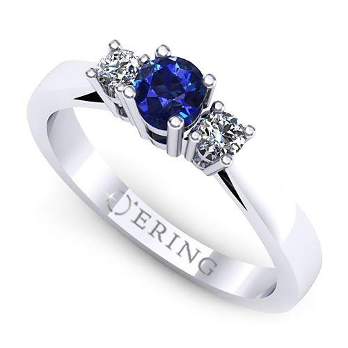 Inel logodna L70ASF inel cu diamante si safir